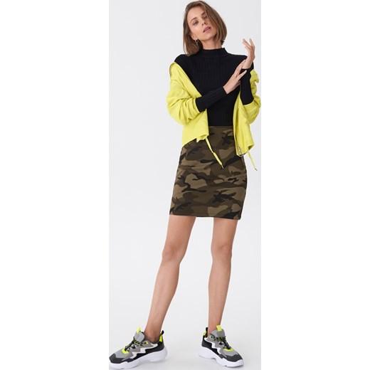 House - Wzorzysta spódnica Khaki Odzież Damska UZ zielony Spódnice EIFV 80% ZNIŻKI