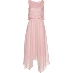 ddc60a2b Sukienka Bpc Selection Premium różowa bez rękawów koronkowa