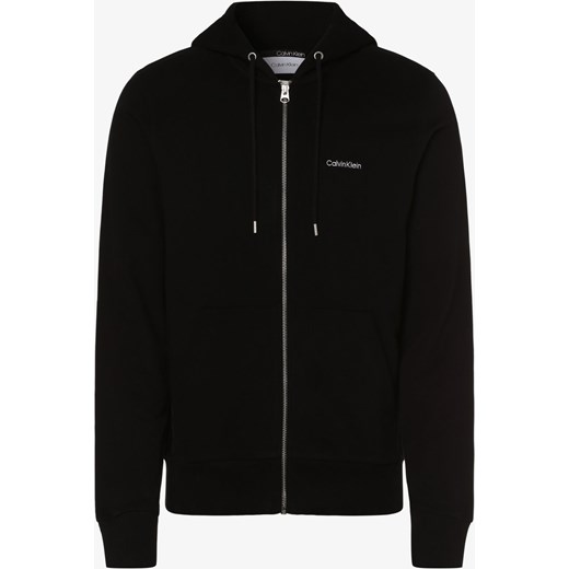 Calvin Klein Męska bluza rozpinana, czarny vangraaf Odzież