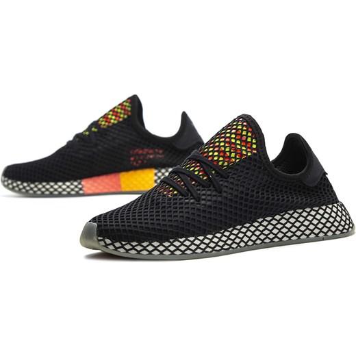 Buty sportowe męskie czarne Adidas wiązane jesienne Buty