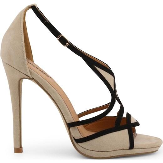 Brązowe sandały damskie Arnaldo Toscani eleganckie na szpilce na wysokim obcasie Buty Damskie TP brązowy Sandały damskie NZKJ