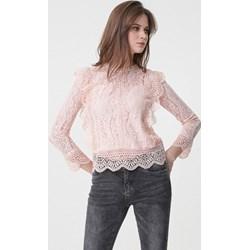 bc3e7b3c Różowa bluzka damska Born2be z długim rękawem