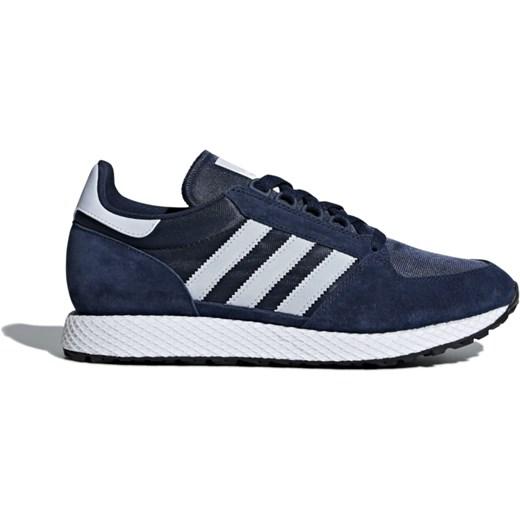 Buty sportowe męskie Adidas sznurowane jesienne zamszowe