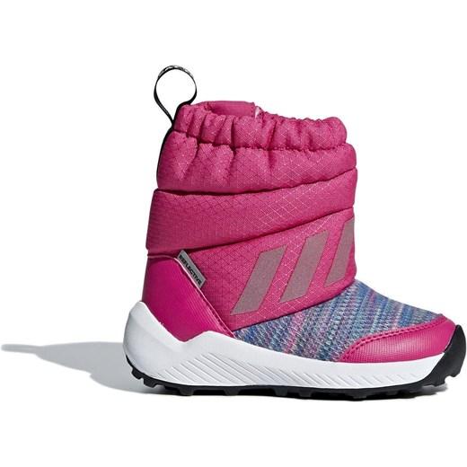 Buty zimowe dzieci?ce adidas RapidaSnow czarno r?owe