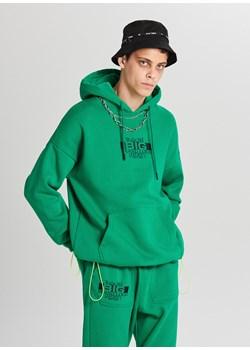 Cropp - Bluza z kapturem - Zielony Cropp   - kod rabatowy