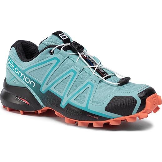 Buty trekkingowe damskie Salomon na płaskiej podeszwie gładkie
