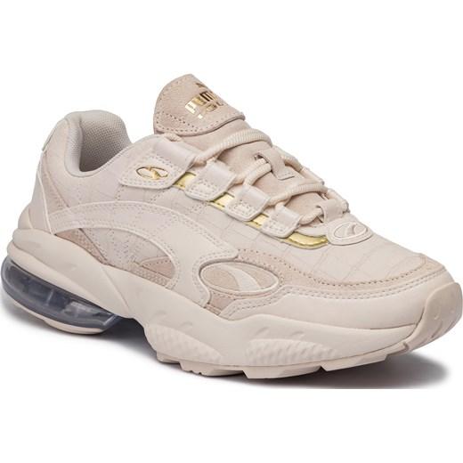 Sneakersy damskie Puma wiosenne na platformie gładkie sportowe sznurowane