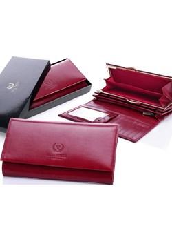 PAOLO PERUZZI ekskluzywny skórzany portfel damski w pudełku GA91 skorzana-com fioletowy elegancki - kod rabatowy