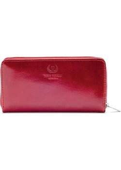 PAOLO PERUZZI ekskluzywny skórzany portfel damski kopertówka w pudełku GA38 skorzana-com czerwony elegancki - kod rabatowy