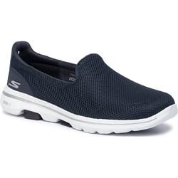 Buty sportowe damskie Skechers sneakersy granatowe casual
