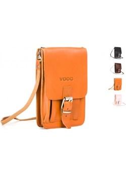 Paszportówka skóra 2w1 Vintage P19 vooc-pl pomaranczowy łatki - kod rabatowy
