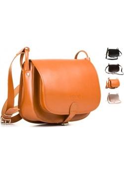 Listonoszka duża torebka Vintage P27 vooc-pl pomaranczowy łatki - kod rabatowy