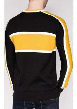 Sweter męski 145E - żółty Edoti.com   - kod rabatowy