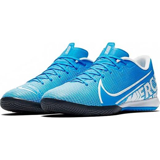 Buty sportowe męskie Nike Football mercurial niebieskie na wiosnę sznurowane ze skóry