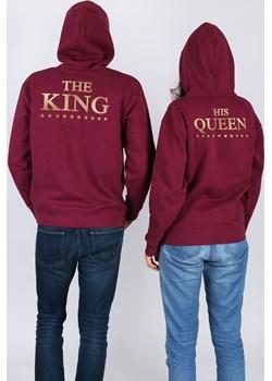 Komplet bluz z kapturem The King His Queen Magia Zakupów czerwony okazyjna cena magiazakupow.com  - kod rabatowy