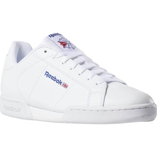 Buty sportowe męskie Reebok classic białe ze skóry wiązane w