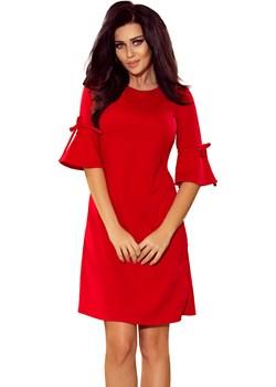 Trapezowa sukienka z rozkloszowanymi rękawkami Numoco  promocyjna cena 4myself.pl  - kod rabatowy