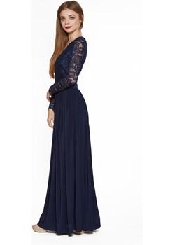 Długa sukienka z koronkowym dekoltem  4myself okazja 4myself.pl  - kod rabatowy