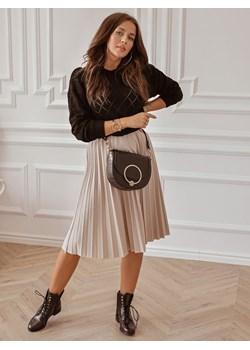 Beżowa plisowana midi spódnica  Rose Boutique  - kod rabatowy