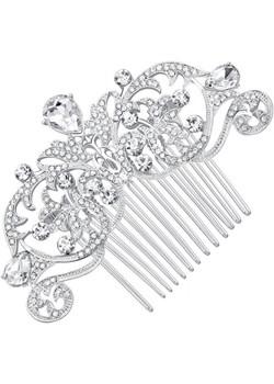 Grzebyk ślubny Talia srebrny Unique Bijou   - kod rabatowy