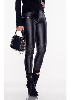 Włoskie spodnie woskowane  VERONA ZIP black   Lagattini.pl - kod rabatowy