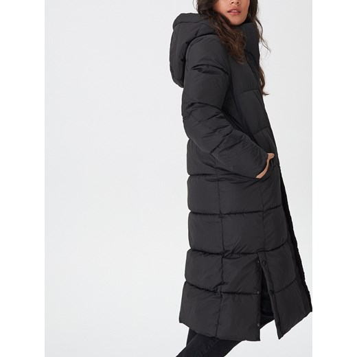 czrna damska kurtka długa