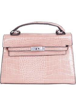 Torebka kuferek mini krokodyl beżowo-różowa   Torebki Inspirowane - kod rabatowy