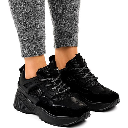 Butymodne buty sportowe damskie sneakersy młodzieżowe bez wzorów sznurowane płaskie
