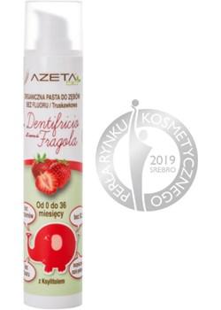Organiczna pasta do zębów bez fluoru z ksylitolem i aloesem dla dzieci 0-3 lata truskawkowa 50 ml – Azeta Bio Mamy to my - kod rabatowy