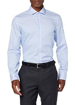 Jedwabna naklejka męska koszula biznesowa -  krój dopasowany   okazja Amazon  - kod rabatowy