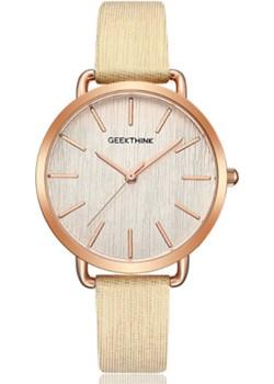 Delikatny zegarek damski GeekThink - złoty Geekthink  promocyjna cena niwatch.pl  - kod rabatowy
