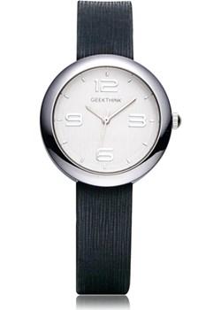 Elegancki zegarek damski GeekThink na czarnym pasku Geekthink  promocja niwatch.pl  - kod rabatowy