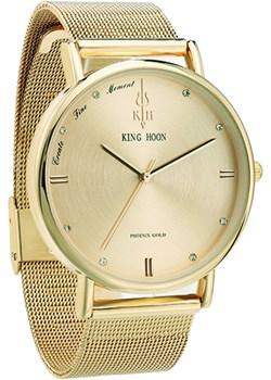 Elegancki zegarek KING HOON złoty King Hoon  okazja niwatch.pl  - kod rabatowy