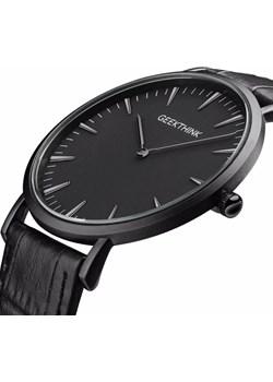 Czarny zegarek GeekThink na pasku Geekthink  niwatch.pl okazyjna cena  - kod rabatowy