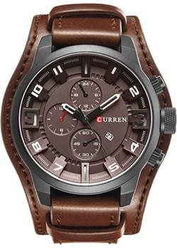 Brązowy zegarek CURREN z datownikiem Curren  okazja niwatch.pl  - kod rabatowy