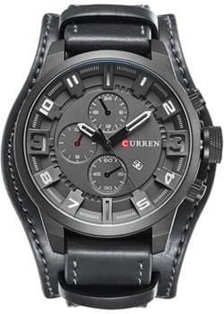 Czarny zegarek CURREN z datownikiem Curren  okazja niwatch.pl  - kod rabatowy
