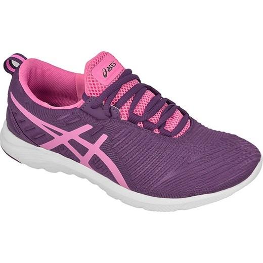 Buty Asics sportowe damskie do biegania sznurowane wiosenne fioletowe