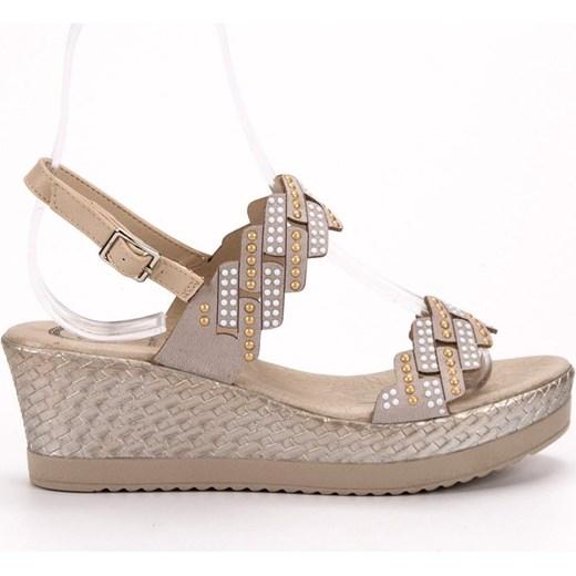 Buty Aclys sandały damskie ze skóry ekologicznej na lato w