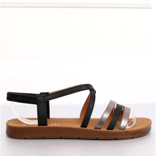 Sandały damskie Butymodne płaskie gładkie na płaskiej podeszwie casual