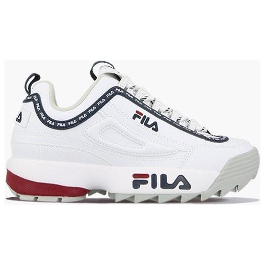 Fila sneakersy damskie sportowe na platformie sznurowane gładkie