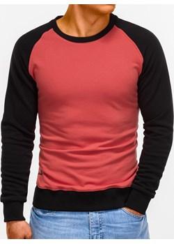 Bluza męska bez kaptura 920B - ciemnoróżowa  Edoti.com  - kod rabatowy