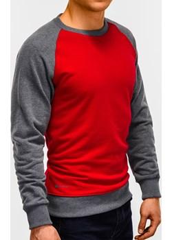 Bluza męska bez kaptura 920B - czerwona Edoti.com   - kod rabatowy