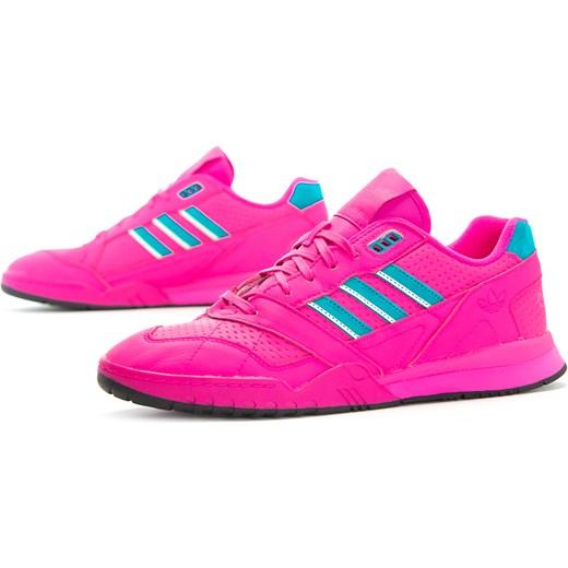 najwyższa jakość urok kosztów kody kuponów Buty sportowe męskie różowe Adidas skórzane wiązane wiosenne