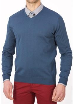 Sweter szpic ciemny niebieski - regular Lanieri  Lanieri.pl - kod rabatowy
