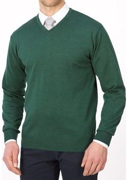 Sweter szpic zielony - regular  Lanieri Lanieri.pl - kod rabatowy