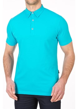 Koszulka polo - turkusowa  Lanieri Lanieri.pl - kod rabatowy