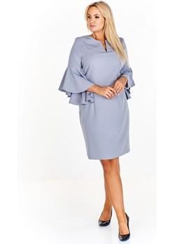 Sukienka z falbaniastymi rękawami Filloo  ptakmoda.com - kod rabatowy