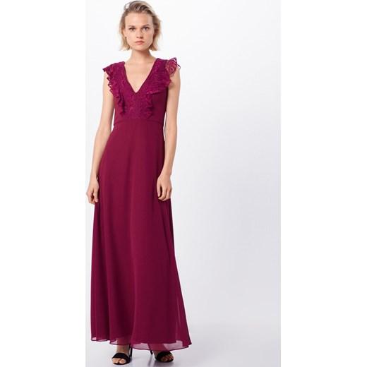 Sukienka Swing czerwona koronkowa elegancka bez rękawów maxi