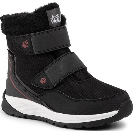 stabilna jakość nowe wydanie połowa ceny Buty zimowe dziecięce czarne Jack Wolfskin na rzepy polarowe