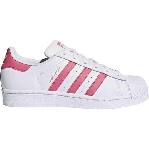 Białe trampki dziecięce Adidas w paski